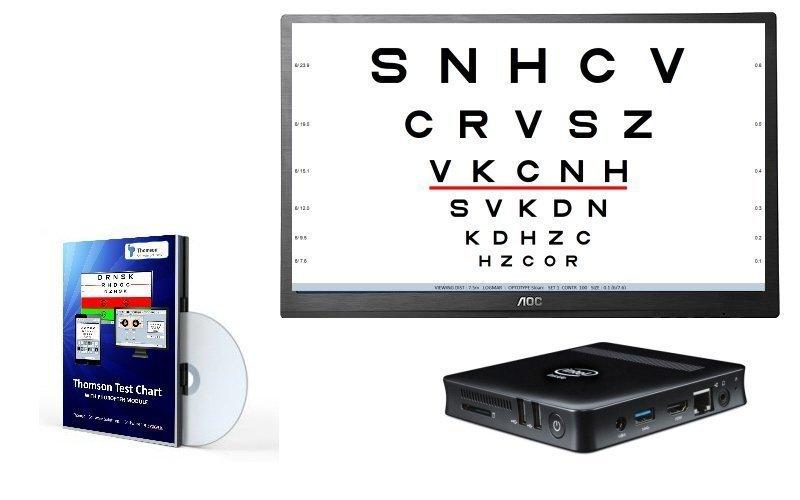 Micro PC (CB), 24'' monitor & Thomson Test Chart (Full)