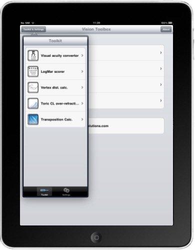iPad vision app