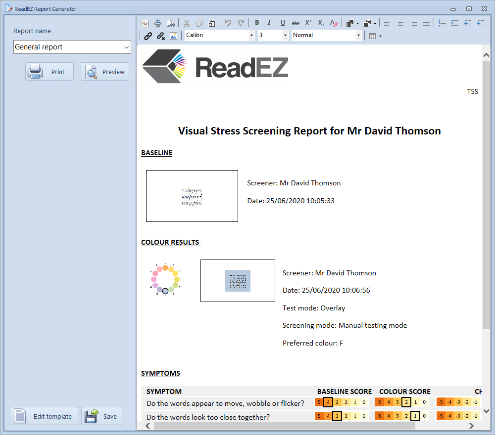 ReadEZScreeningReport